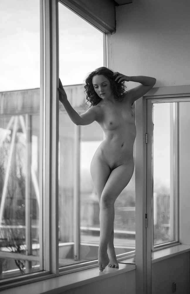 Nude in window